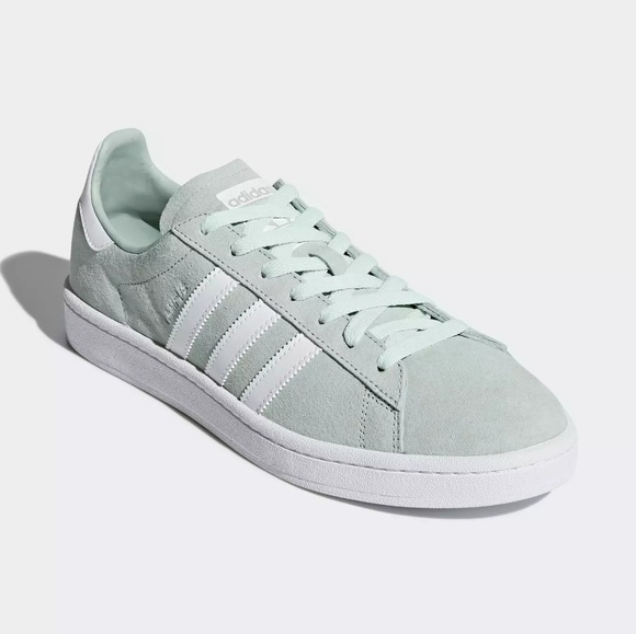 Adidas zapatos de gamuza verde menta poshmark blanco ceniza Campus